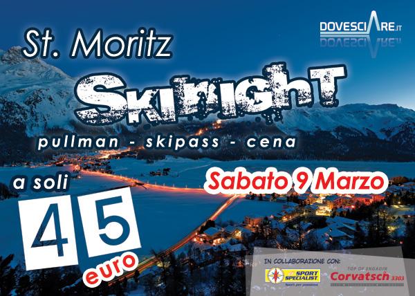 EVENTI MONTAGNA – Ultimi due giorni per iscriversi alla sciata notturna del 9 marzo a St.Moritz