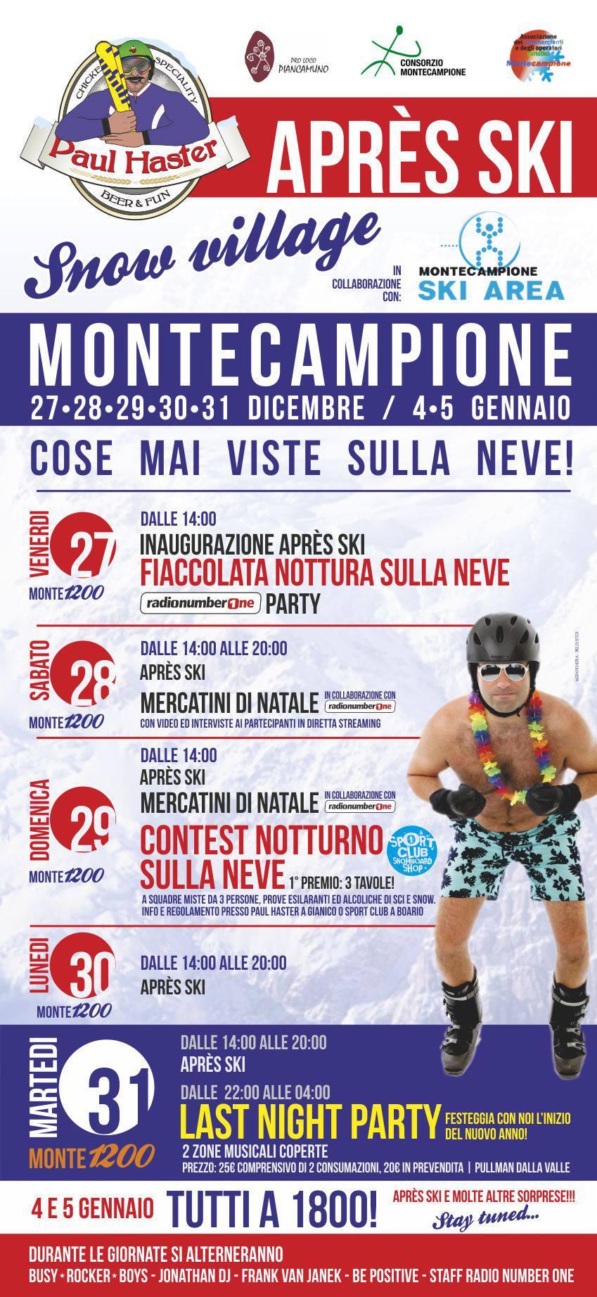 Locandina Apres Ski Montecampione